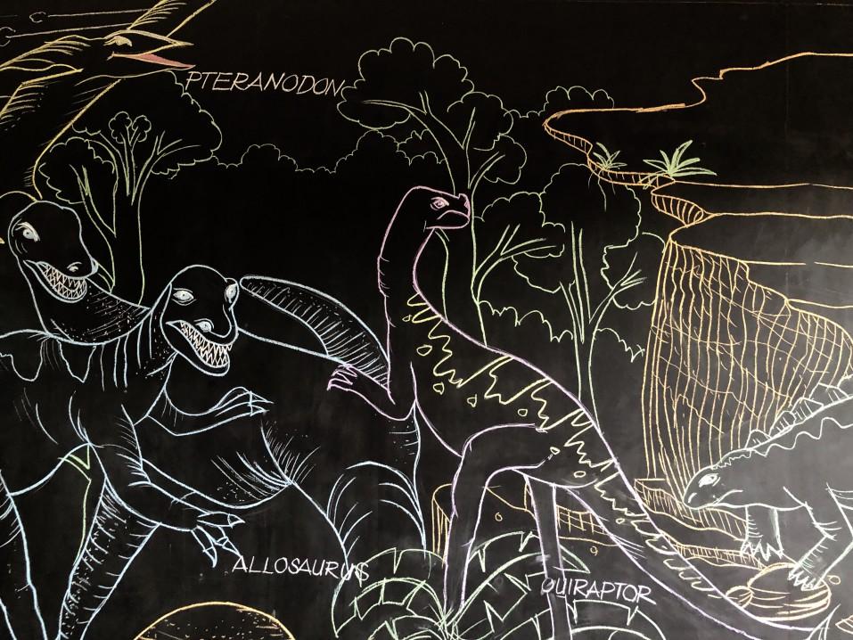 Une chambre d'enfant jurassique pour ravir les paléontologues en herbe.